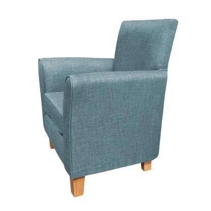 guiseley chair duck egg side view