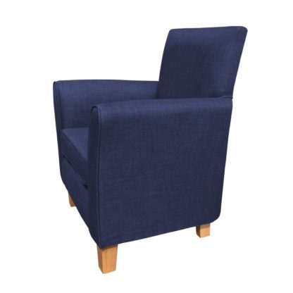 guiseley chair midnight side view