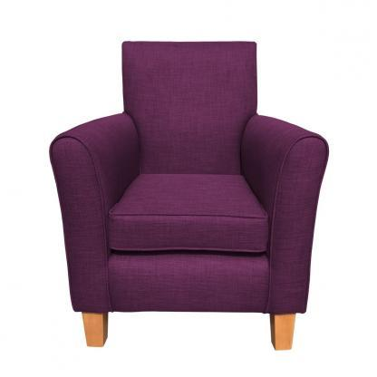 guiseley chair purple front view