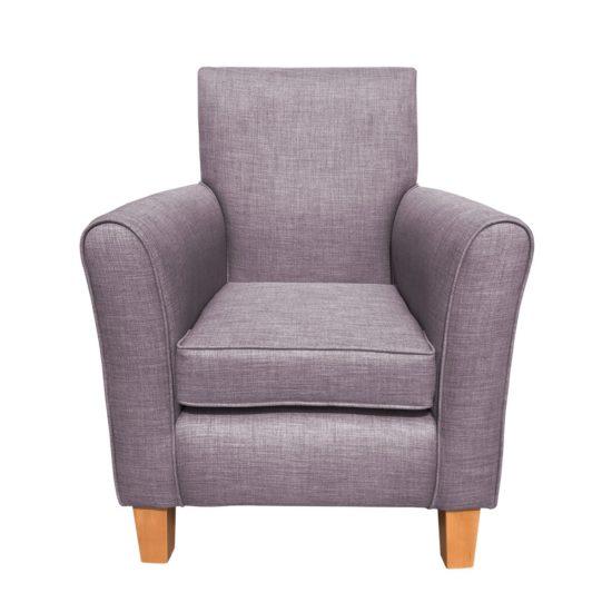 The eddie chair Mist front view