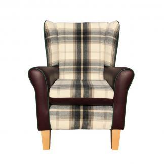 jemma chair balmoral charcoal front view