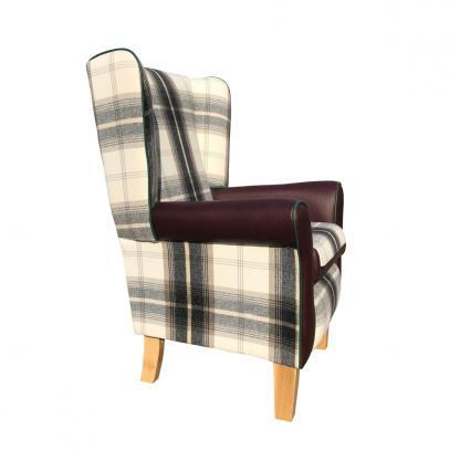 jemma chair balmoral charcoal side view