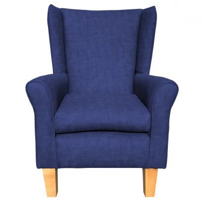 york chair estoril lapis blue front view