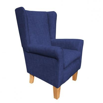 york chair estoril lapis blue side view
