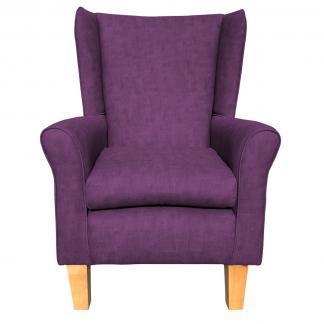 york chair estoril purple heather front view