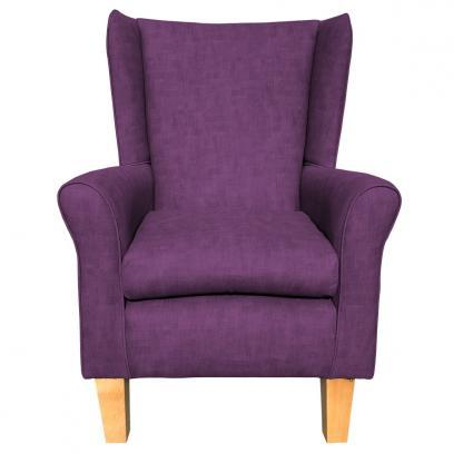 york chair estoril purple heather front view
