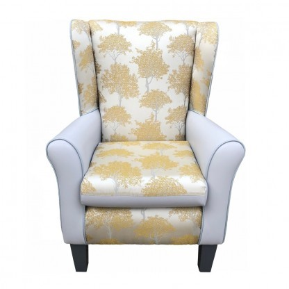 keaton dijon york wingback chair front