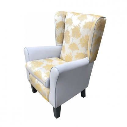 keaton dijon york wingback chair side