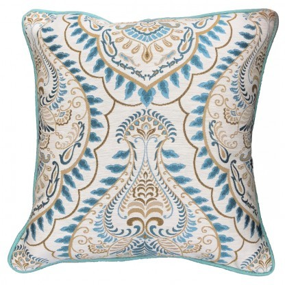 Leo teal cushion