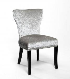 New York Crushed Velvet Accent Chair - Silver