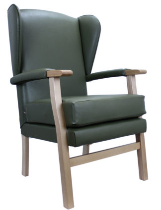Newark Green Winged Fireside Chair