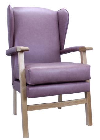 Newark Purple Fireside Chair