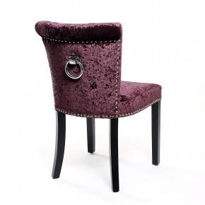 Opus Crushed Velvet Accent Chair - Plum