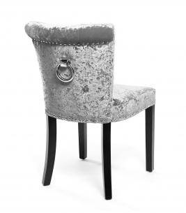 Opus Crushed Velvet Accent Chair - Silver