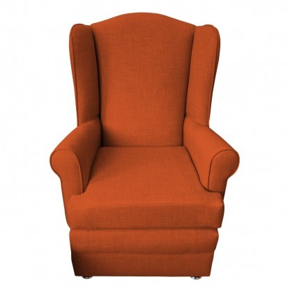 orthopedic chair front burnt orange