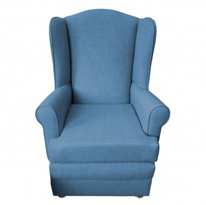 orthopedic chair front denim