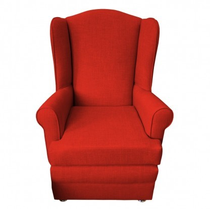 orthopedic chair front red