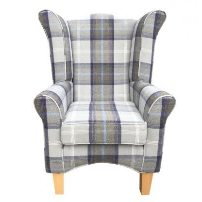 pisa oxford blue orthopaedic chair front view