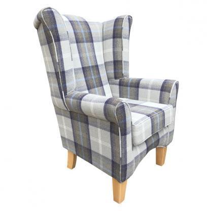 pisa oxford blue orthopaedic chair side view