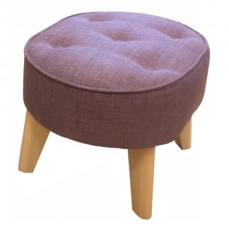 purple oval footstool