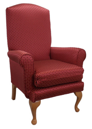 Queen Anne Orpheus Wine Bedroom Chair
