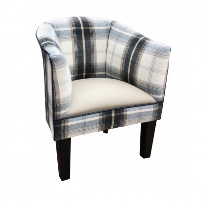 Tub Chair in Balmoral Charcoal side view